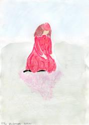 Girl on ice by Riibu