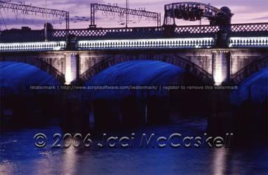 Glasgow Bridge at Night, 2004 by pwrpufgirlz