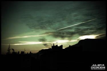 Sky in December by Zazaka