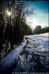 Snow landscape . by Zazaka
