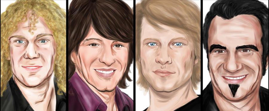 Bon Jovi: Fantastic 4 by hwoary