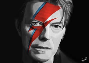 David Bowie by hwoary