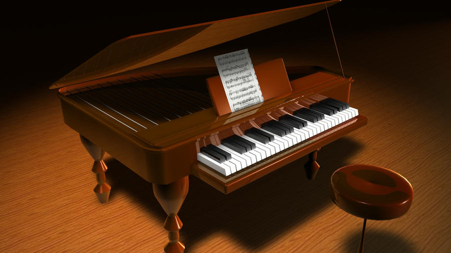 Cinema 4d Piano by MasterOfElements