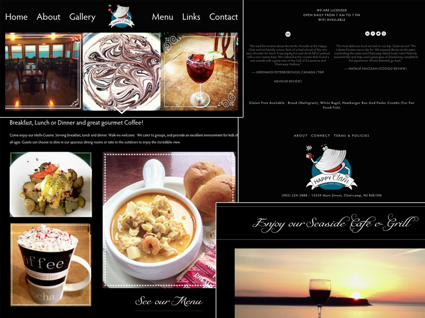 Happy Clam Cafe New Website by CanaP92