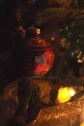 Christmas Ornament by firelight