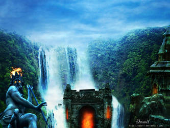 Fire and  water Temple by saza11