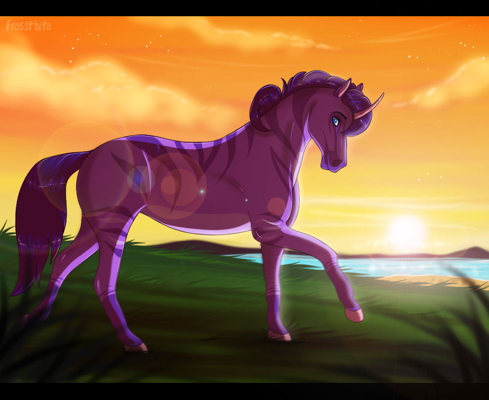 Commission: Brisk Sunset Run by Frosstie