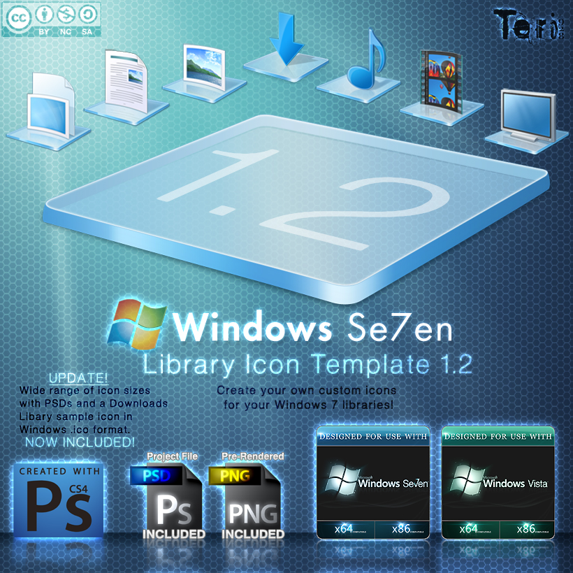 Win7 Library Icon Template 1.2 by Teri928 on DeviantArt