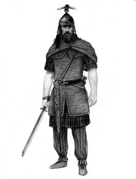 Celtic warrior from the Carpathians