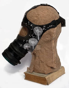 Wishing I Was Home, Embroidered Gas Mask