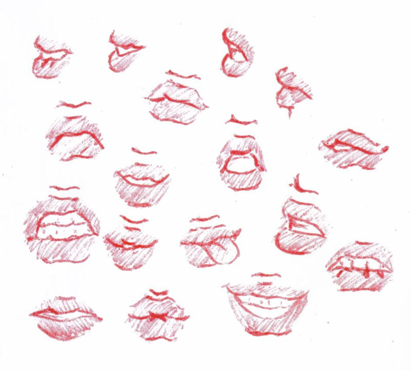 Lips by tagzii on deviantart for How to draw cute lips