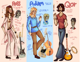 the band i redesign every time they get drawn by spinachtoffeee