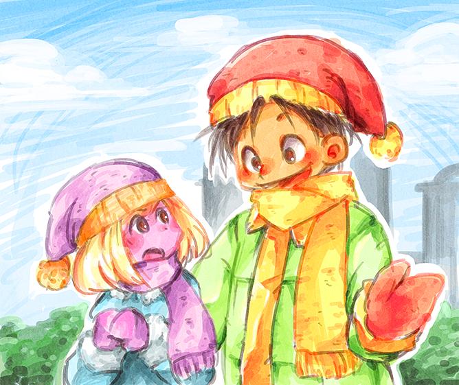 ernie and prairie doodle. by Cindysuke