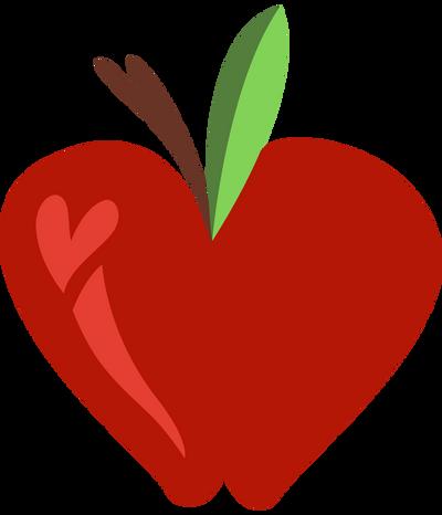 mlp heart apple  vector  by jackiephantom13 on deviantart Apple Core Coloring apple core images clip art