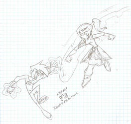 SKETCH: Korra VS Danny Phantom