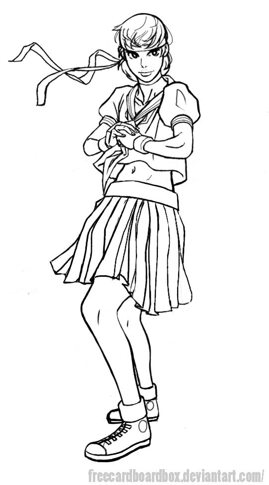 Sakura Lines by freeCardboardBox