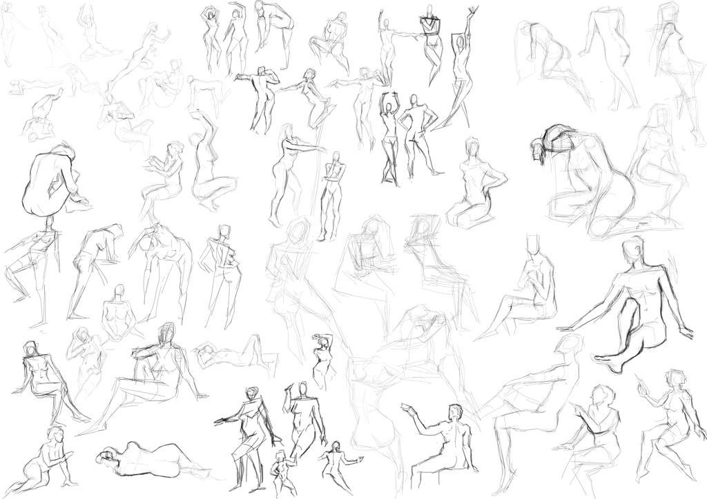 Figure Drawing 08-2-16 by freeCardboardBox