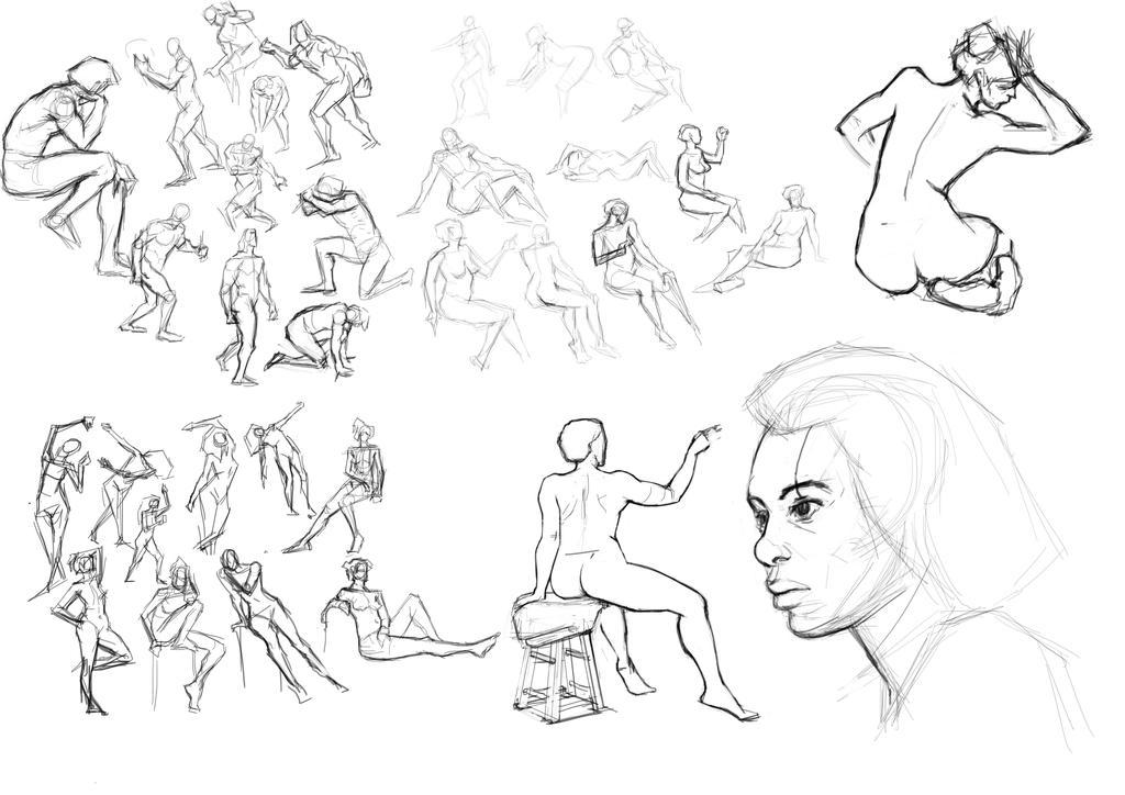 Figure Drawing 08-30-16 by freeCardboardBox