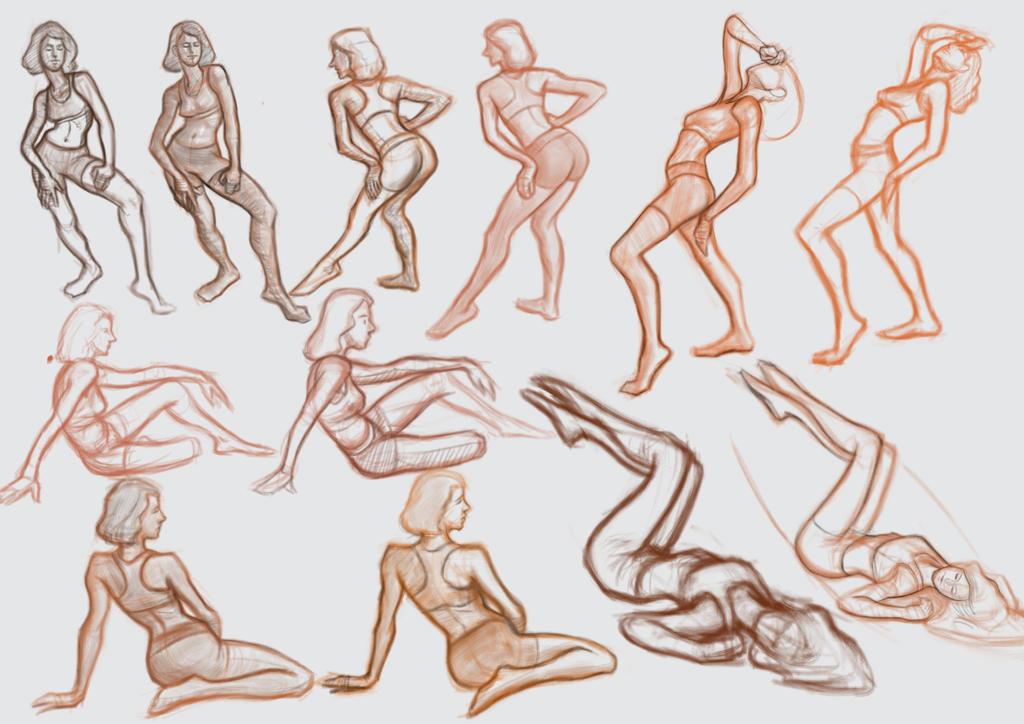 Figure Drawing 09-15-16 by freeCardboardBox