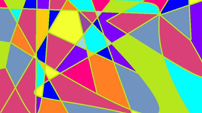 triangle colorful triangles art - photo #3