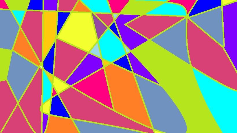 triangle colorful triangles art - photo #3