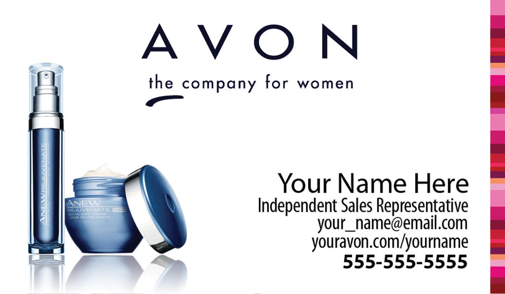 AvonBusinessCards By Tankride On DeviantArt - Avon business card template