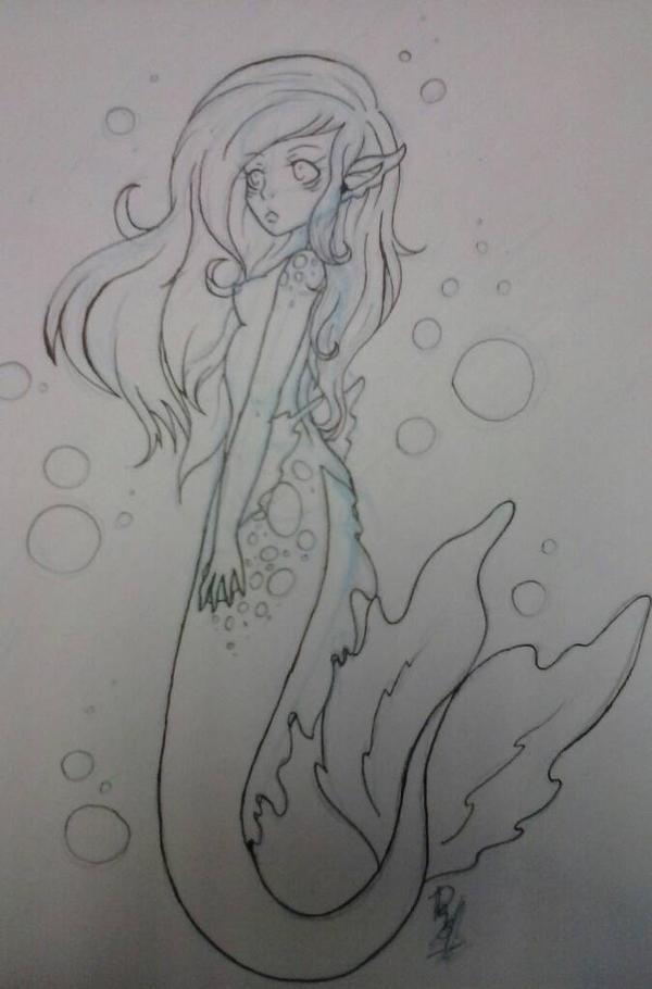 Mermaid WIP by AngelGoneInsane