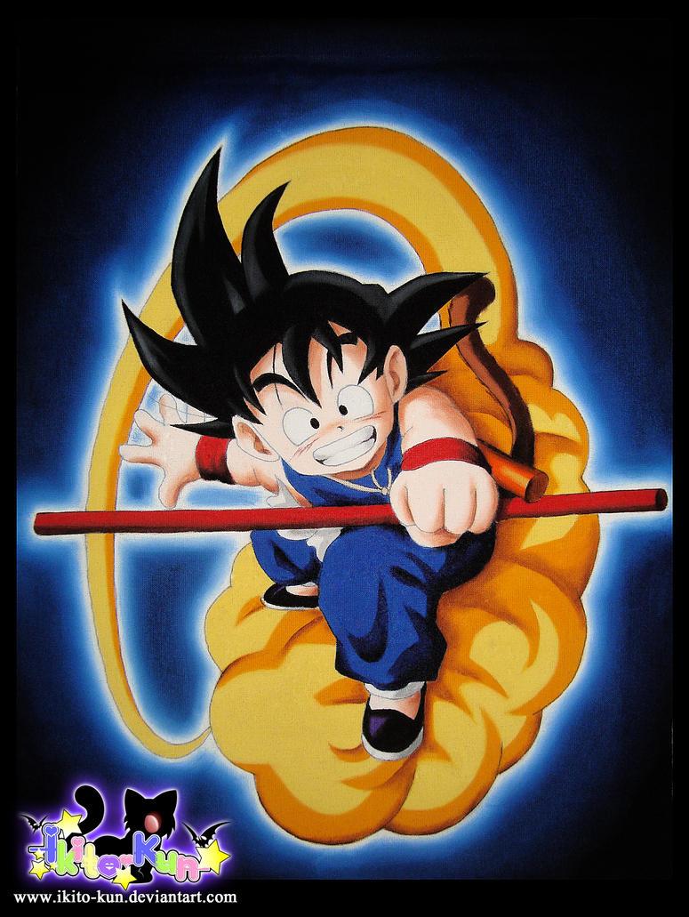 Goku in fabric by Ikito-kun
