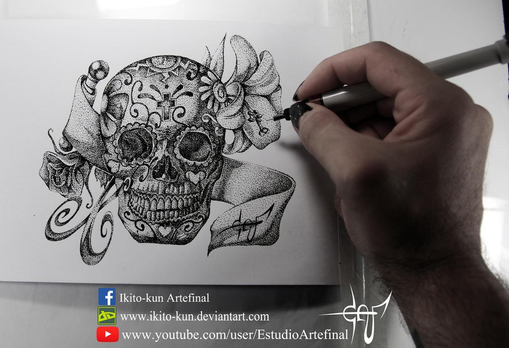 Mexican Skull by Ikito-kun