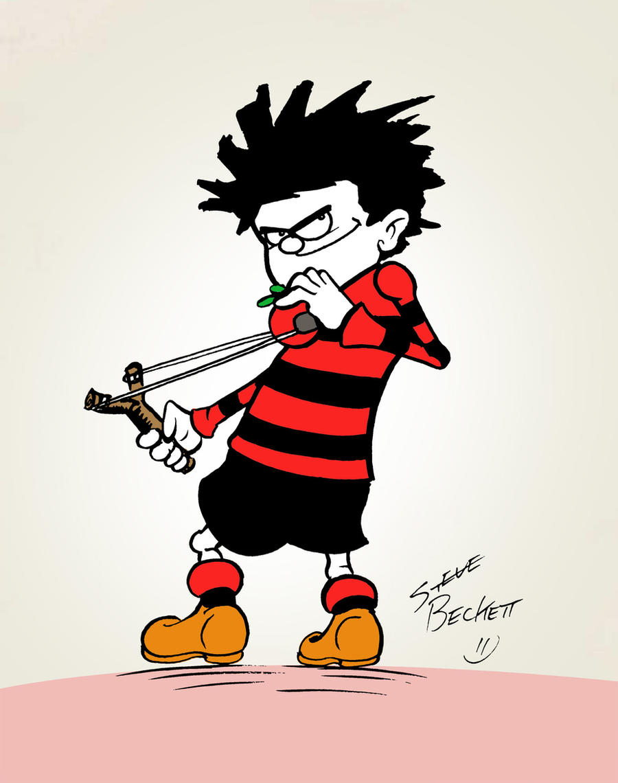 how to draw dennis the menace