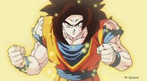 Super Saiyan 4 (Dragon Ball Z Art Style)