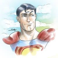superman sketch by SachaLefebvre