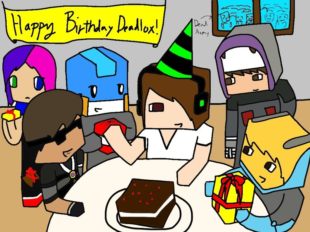 Deadlox Minecraft Skin Happy Birthday Deadlox  by