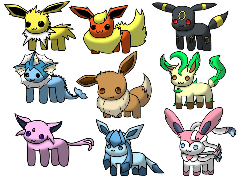 [Free Download] Chibi Eeveelution by ApplemintArts on ...