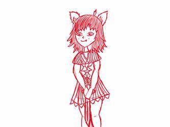 Practice wip she wolf by Sapphiretreasure