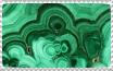 Malachite stamp by Guajorite