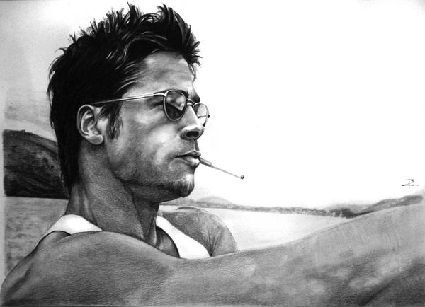 Brad Pitt by arcitenens
