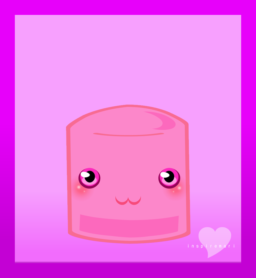 Kawaii Pink Marshmallow by InspireMari