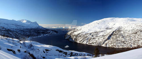 Fjord near Narvik in Norway