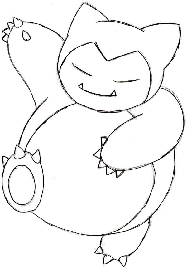 Snorlax Pokemon Coloring Pages Images