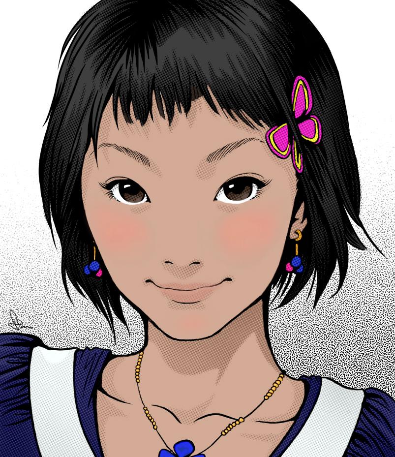 Kawaii Gal Colored by Shirekat