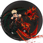 Bakugo Colored Splatter