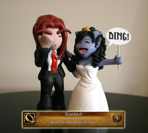 A Warcraft Wedding: Cake Topper by TallmanCreations