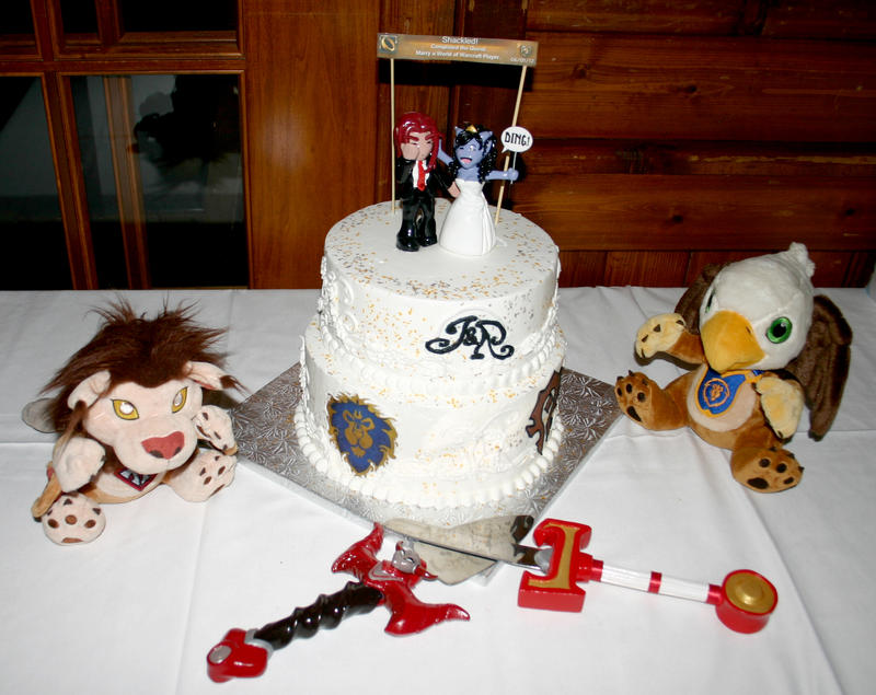 wow wedding cakes a warcraft wedding the cake by tallmancreations on deviantart 27657