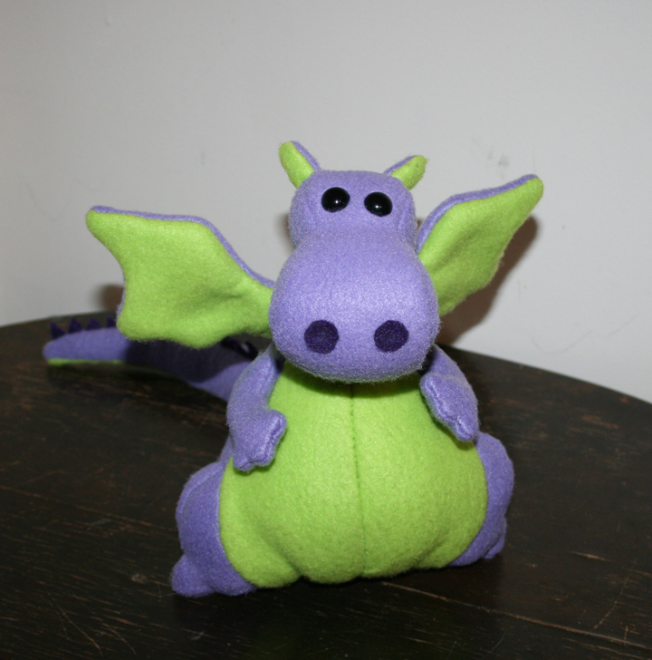 My First Plushie: Yoki the Fat Dragon by TallmanCreations