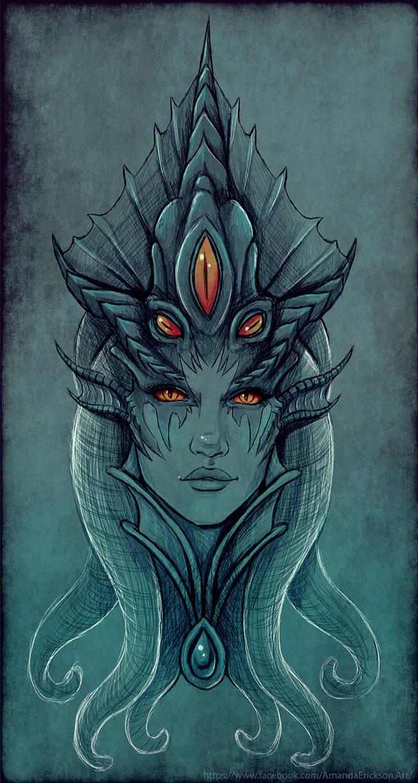 Queen Azshara [Digital Charcoal]