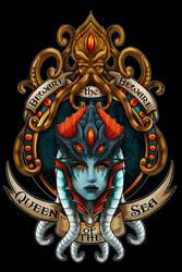 Queen Azshara T-shirt Design [Digital Painting]