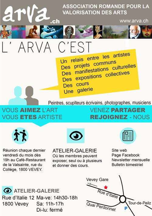 Flyer  art association ARVA by cybergranny