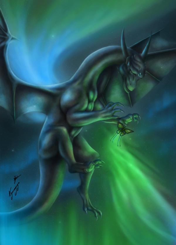 Aurora Borealis by Nymonyrya