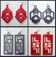 3D printed earrings no.2 by Nymonyrya